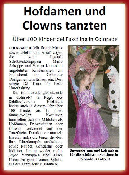 Maskerade 2014 in Colnrade